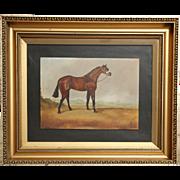 Racehorse Oil Painting, English, Circa 1930