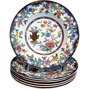 Antique English Stone China Bowls / Plates, 6 Available