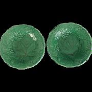 Antique Majolica Plates, English, Pair