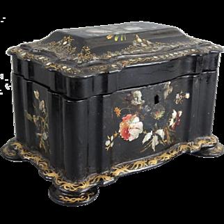 Large Antique Chinoiserie Papier Mache Box