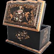 Antique Papier-Mâché Box, Jennens & Bettridge