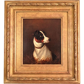 Antique Jack Russell Terrier Dog Oil Painting, Colin Graeme Roe