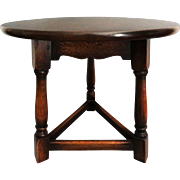 Early English Pegged Oak Low Table / Joint Stool