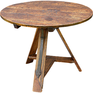 18th-C. French Elm Wine Table
