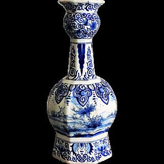 19th-Century Dutch Delft Knobble Vase