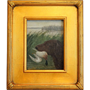 Hunting Dog with Fowl, Oil Painting, A Roland Knight