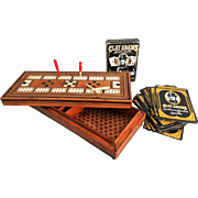 Early English Cribbage Board Game, Bone Markers