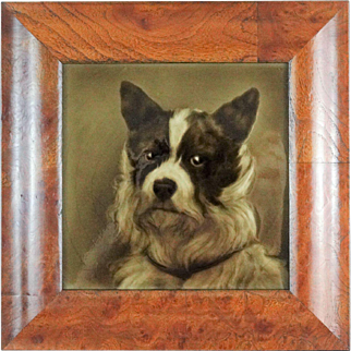 Border Collie Dog Tile by George Cartlidge, Antique