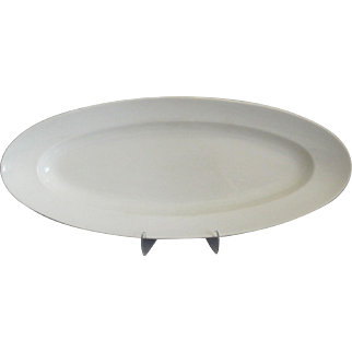 Large Antique French White Ironstone Platter
