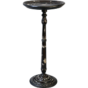 Ebonized Mother of Pearl Inlay Wine Table