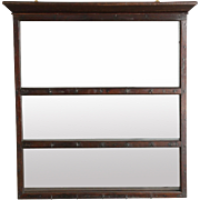 19th-C. English Oak Delft Plate Rack