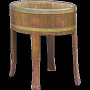 Antique English Oak Wine Cooler / Jardiniere