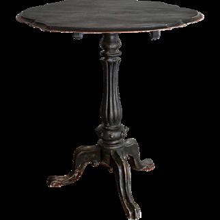 19th-Century Swedish Rococo Tilt Top Table