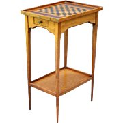 Diminutive English Games Table with Inlay