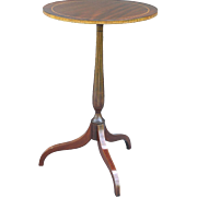 French Mahogany Wine Table with Inlay