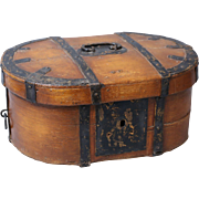 19th-C. Swedish Baroque Box with Iron Mounts