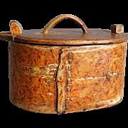 19th-Century Antique Swedish Tine Box