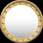 English Gold Leaf Convex Bull's Eye Mirror