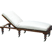 Antique Mahogany Chaise Longue Day Bed