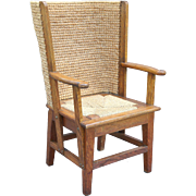 Antique Orkney Island Child's Chair with Woven Back