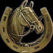 Brass English Equestrian Horse Door Knocker