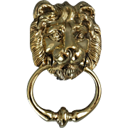 Large Solid English Brass Lion Door Knocker