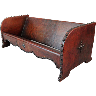 Antique French Leather Book Stand