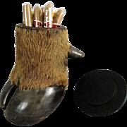 Antique Antelope Trophy Tobacco Jar, Tobacciana