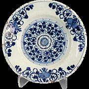 Antique Dutch Delft Plate, 18th-Century