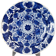 Antique Dutch Delft Chinoiserie Charger