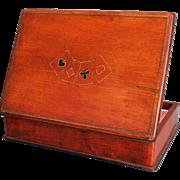 English Mahogany Playing Cards Box
