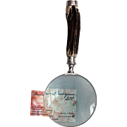 Antique Sterling Silver Stag Antler Magnifier