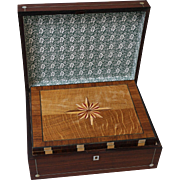 Antique English Rosewood Compendium Games Box