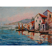 French Cote D'Azur Impressionism Oil Painting