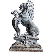 19th-Century English Lion Iron Doorstop / Paperweight
