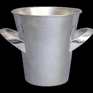 English Art Deco Silver Wine Cooler / Ice Bucket, Circa 1930