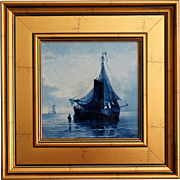 Delft Faience Nautical Tile After Mesdag