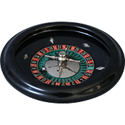 Early French Bakelite Roulette Wheel Gambling Game Set