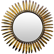 French Sunburst Convex Mirror