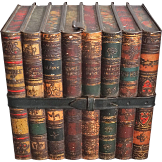 Antique Huntley Palmer 'Books' Biscuit Tin, England