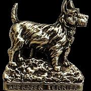 English Brass Aberdeen Terrier Dog Door Knocker