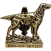 Brass English Setter Dog Door Knocker, Circa 1930
