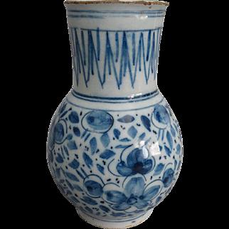 18th-Century Antique Dutch Delft Faience Vase