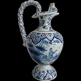 19th-Century Antique Dutch Delft Jug Ewer