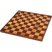 Antique English Chess & Checkers Game Board, Double Sided