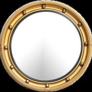 Early English Convex Gilt Bullseye Bull's Eye Mirror