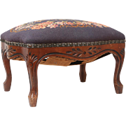 Antique Louis XV-Style French Foot Stool