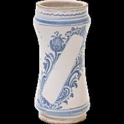 Antique Italian Albarello Apothecary Pharmacy Jar