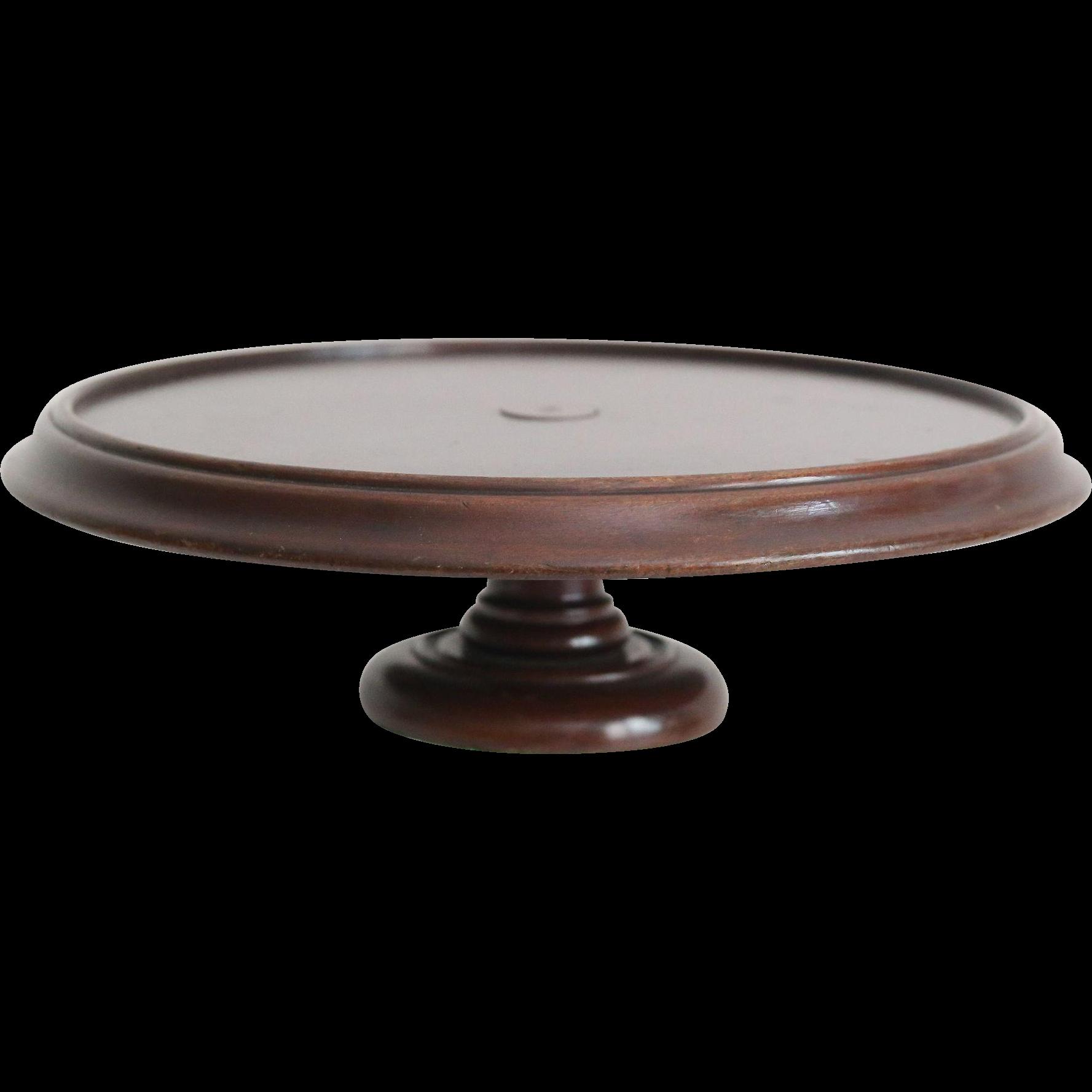 antique revolving tray or lazy susan english mahogany