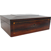 C. 1910 Rosewood Document Jewelry Box